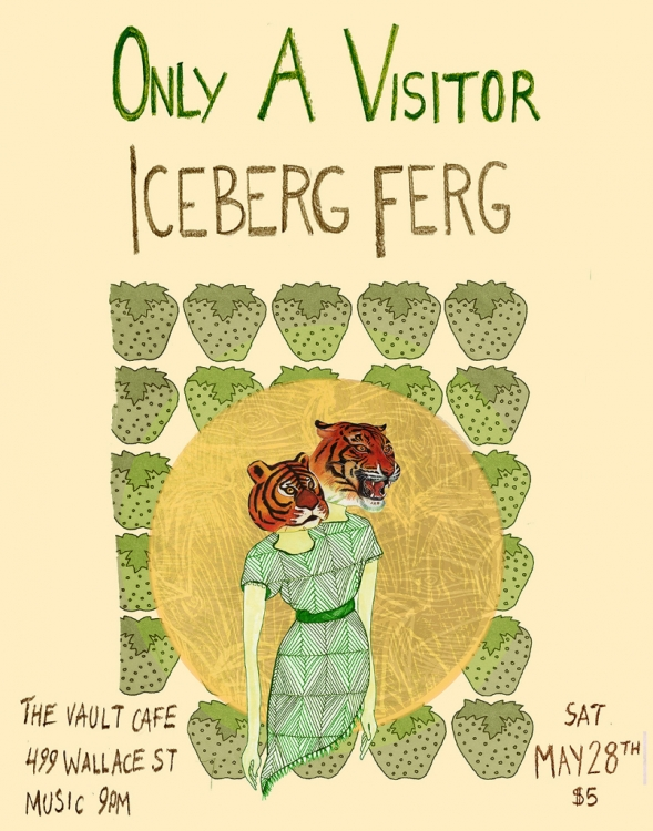 Only A Visitor Poster | Eva Dominelli Illustration
