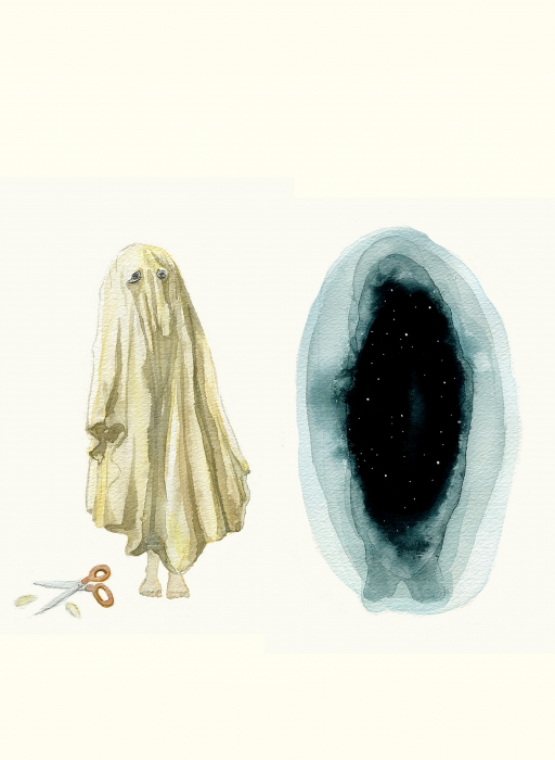 Real Sheet, Fake Ghost | Eva Dominelli Illustration