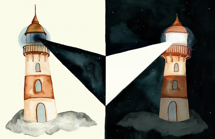 Lighthouse Illustration by Eva Dominelli