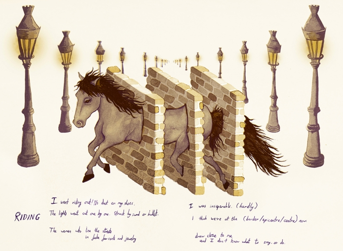 12 & 13. RIDING | Eva Dominelli Illustration Rowan Coupland, Circuit