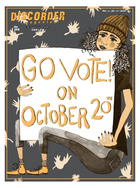 Discorder Go Vote Cover | Eva Dominelli Illustration