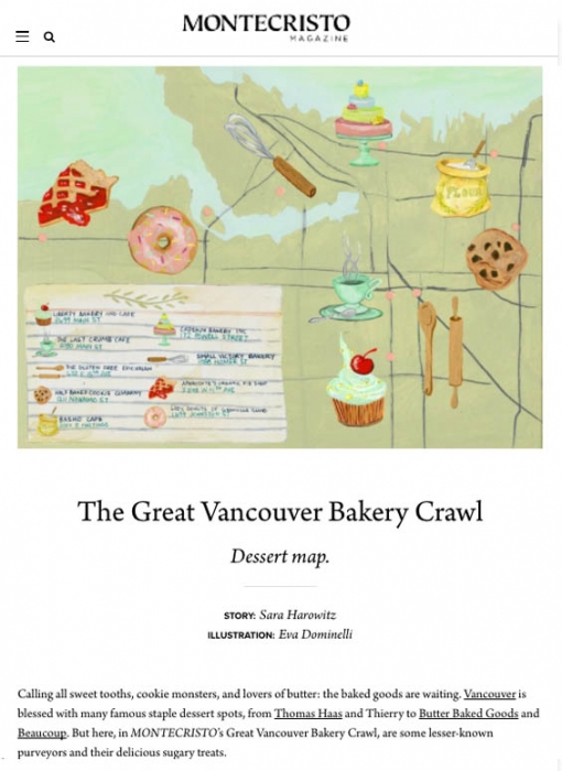 bakery crawl | Eva Dominelli Illustration