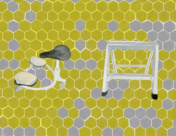 11. Yellow and Grey Hexagon